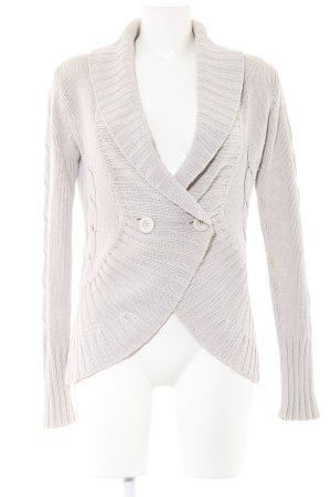 MNG Casual Sportswear Strickjacke hellgrau Casual-Look