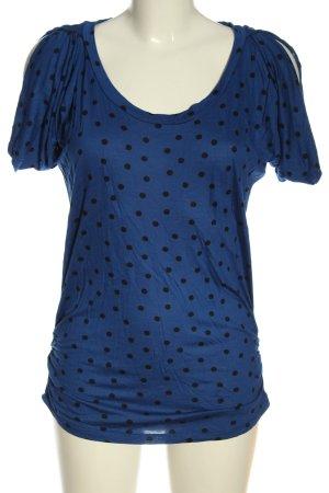 MNG Casual Sportswear T-shirts en mailles tricotées bleu-noir imprimé allover