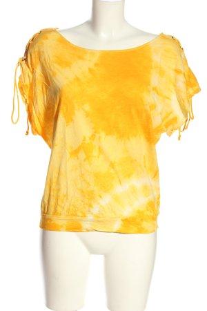 MNG Casual Sportswear T-Shirt hellorange-blassgelb Allover-Druck Casual-Look