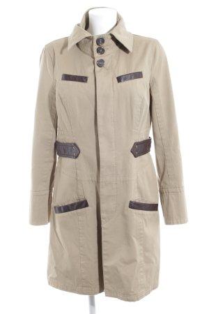 MNG Casual Sportswear Übergangsjacke beige-dunkelbraun Casual-Look