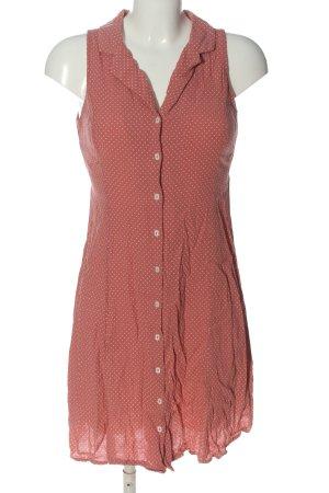 MNG Casual wear A-Linien Kleid hellorange-weiß Punktemuster Casual-Look