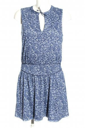 MNG Casual wear A-Linien Kleid blau-weiß Allover-Druck Casual-Look