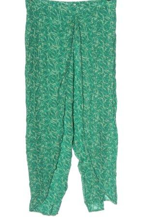 MNG Casual wear Baggy Pants grün-wollweiß Allover-Druck Casual-Look