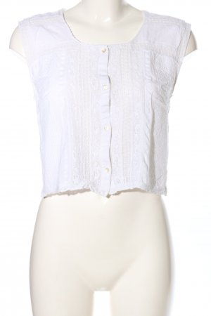 MNG Casual wear Cropped Top weiß Casual-Look