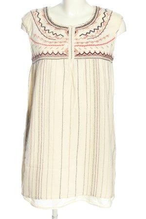 MNG Casual wear Hippiekleid wollweiß grafisches Muster Casual-Look