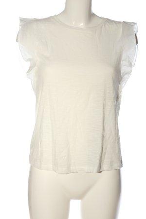 MNG Casual wear Kurzarm-Bluse wollweiß Casual-Look