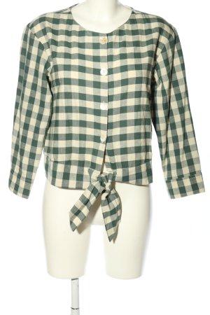 MNG Casual wear Langarm-Bluse weiß-grün Allover-Druck Casual-Look