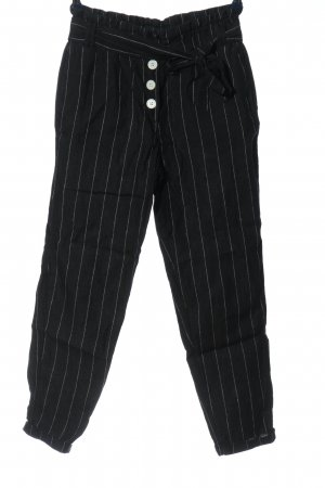 MNG Casual wear Linen Pants black-white striped pattern casual look