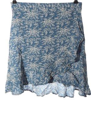 MNG Casual wear Minirock blau-weiß Allover-Druck Casual-Look