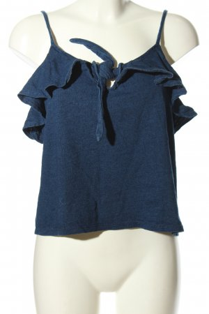MNG Casual wear Trägertop blau meliert Casual-Look