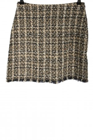 MNG Casual wear Tweed Skirt brown-black business style