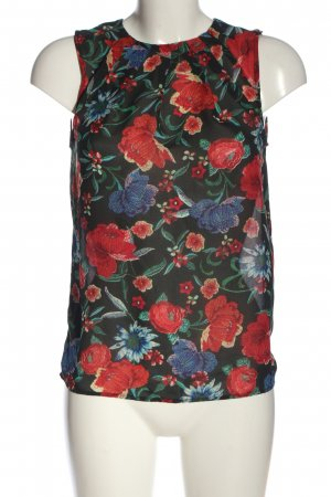 MNG Collection ärmellose Bluse Blumenmuster Casual-Look
