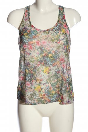 MNG Collection ärmellose Bluse Allover-Druck Casual-Look