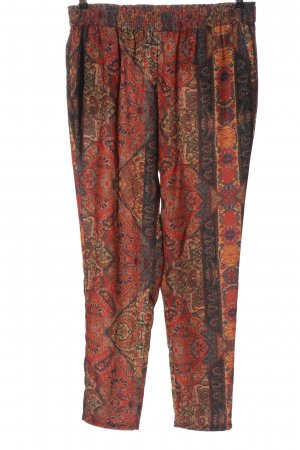 MNG Collection Pantalone largo rosso-nero stampa integrale stile casual