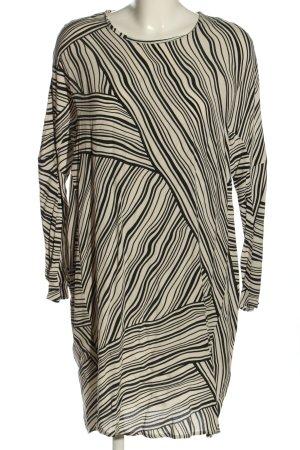 MNG Collection Blusenkleid weiß-schwarz Streifenmuster Casual-Look