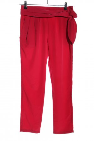 MNG Collection Bundfaltenhose rot Casual-Look