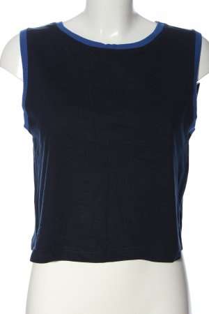 MNG Collection Cropped Top blau Casual-Look