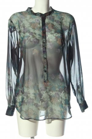 MNG Collection Hemd-Bluse Allover-Druck Casual-Look
