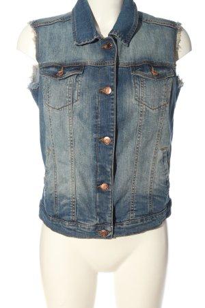 MNG Collection Gilet en jean bleu style décontracté