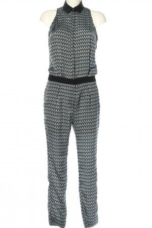 MNG Collection Jumpsuit schwarz-hellgrau Allover-Druck Elegant