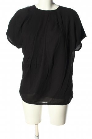MNG Collection Kurzarm-Bluse schwarz Casual-Look