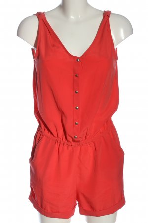 MNG Collection Kurzer Jumpsuit rot Casual-Look