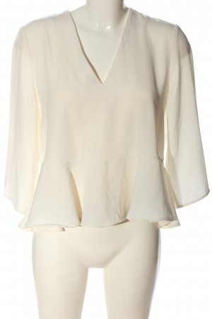 MNG Collection Langarm-Bluse wollweiß Casual-Look