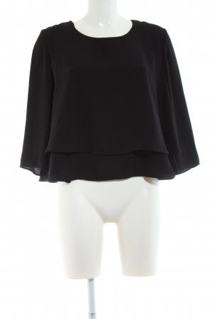 MNG Collection Langarm-Bluse schwarz Casual-Look