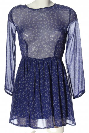 MNG Collection Langarmkleid Allover-Druck Casual-Look