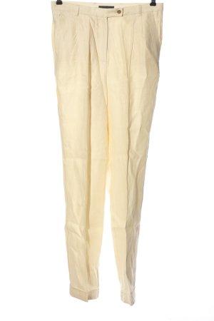 MNG Collection Lniane spodnie bladożółty W stylu casual
