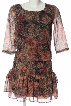 MNG Collection Minikleid Allover-Druck Casual-Look