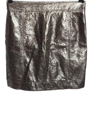 MNG Collection Minirock silberfarben-schwarz Casual-Look
