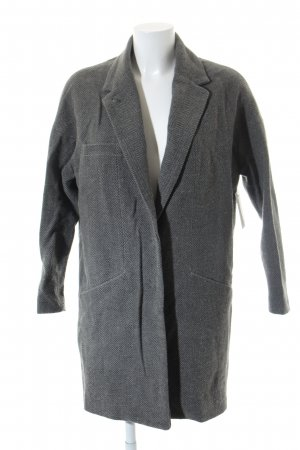 MNG Collection Pea Coat grey zigzag pattern casual look