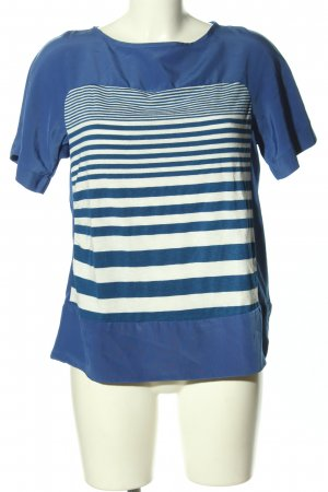 MNG Collection Schlupf-Bluse blau-weiß Streifenmuster Casual-Look