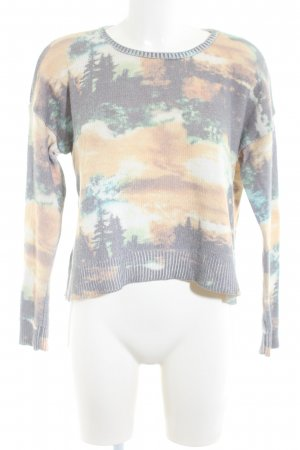 MNG Collection Strickpullover Allover-Druck Casual-Look