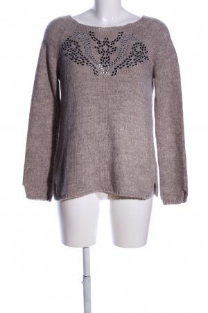 MNG Collection Strickpullover braun meliert Casual-Look