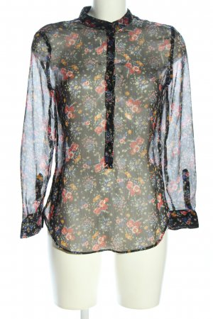 MNG Collection Transparenz-Bluse Allover-Druck Casual-Look