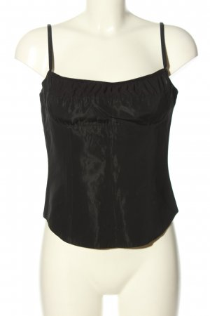 MNG Corsagen Top schwarz Casual-Look