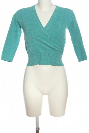 MNG Cropped Pullover türkis meliert Casual-Look