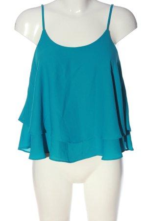 MNG Cropped Top blau Casual-Look