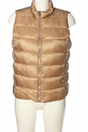 MNG Down Vest light orange quilting pattern casual look