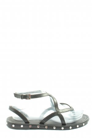 MNG Flip-Flop Sandals black-silver-colored casual look