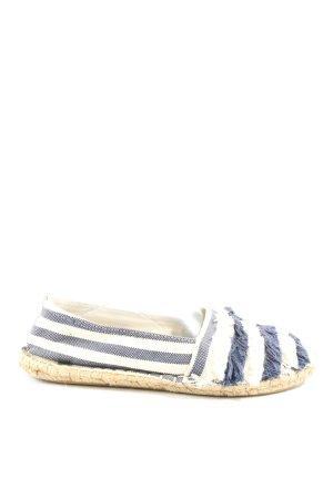 MNG Espadrilles-Sandalen weiß-blau Streifenmuster Casual-Look