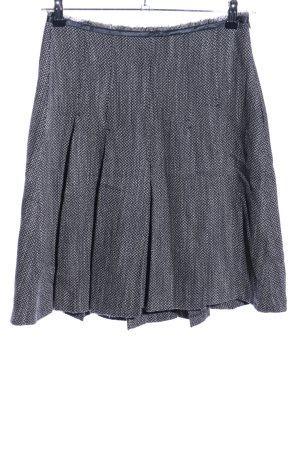 MNG Jupe à plis gris clair-blanc cassé moucheté style d'affaires
