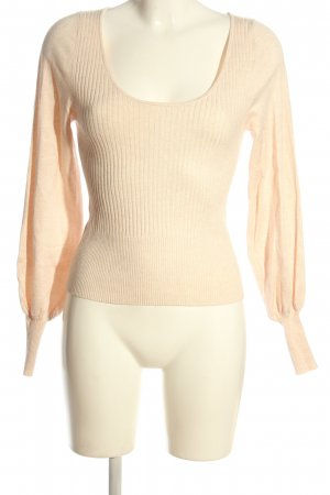 MNG Feinstrickpullover creme Streifenmuster Casual-Look