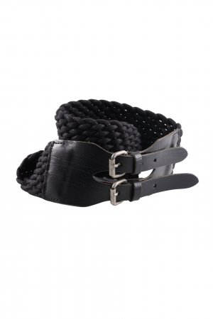 MNG Braided Belt black casual look