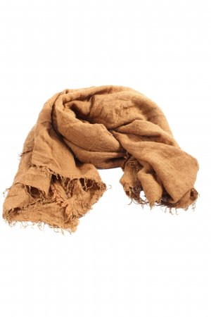 MNG Fringed Scarf light orange casual look