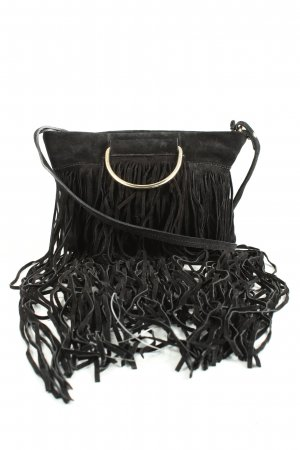 MNG Fringed Bag black-gold-colored casual look