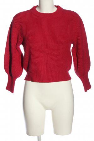 MNG Grobstrickpullover rot Casual-Look