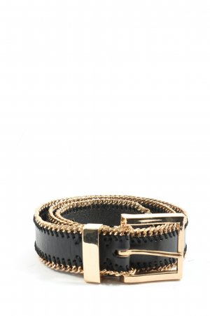 MNG Belt Buckle black-gold-colored casual look